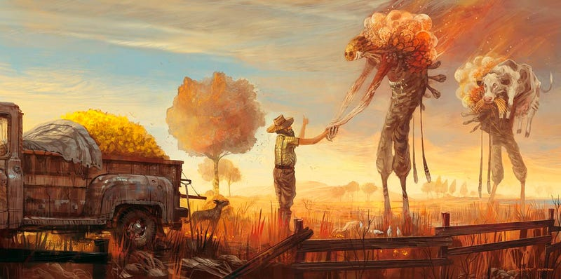 Concept Art Writing Prompt: A Farmer Makes a Trade with Aliens
