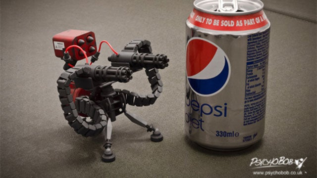Tiny Team Fortress Guns Mean Certain Death For This Pepsi Can