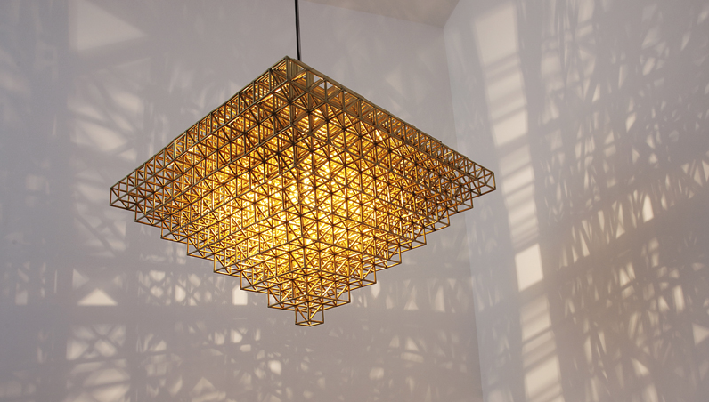 Brutalism inspired lighting by Philippe Malouin