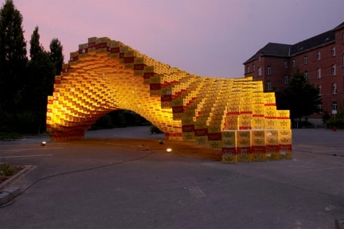 German Students Create Ode to Beer Out of 2,000 Beer Boxes