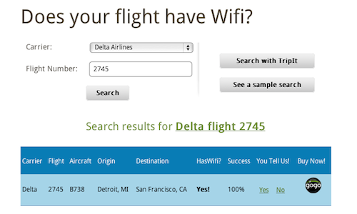 HasWifi Tells You If Your Flight, Well, Has Wi-Fi