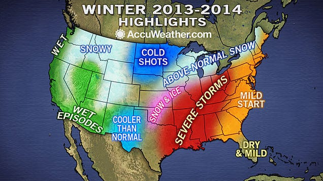 winter weather forecast long range prediction from noaa