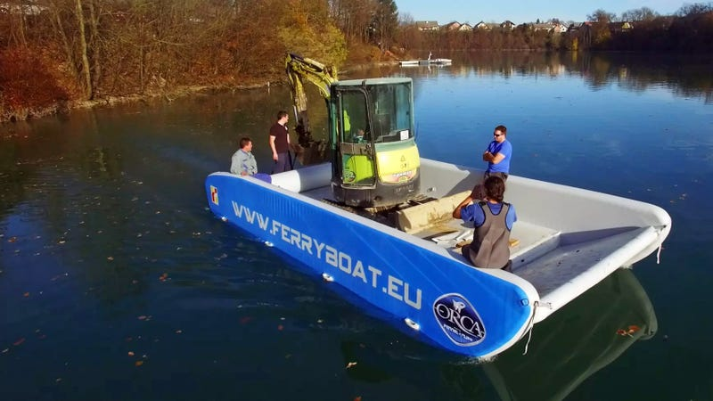 Save on Bridge Tolls With an Inflatable Ferry Strong Enough to Support a Car