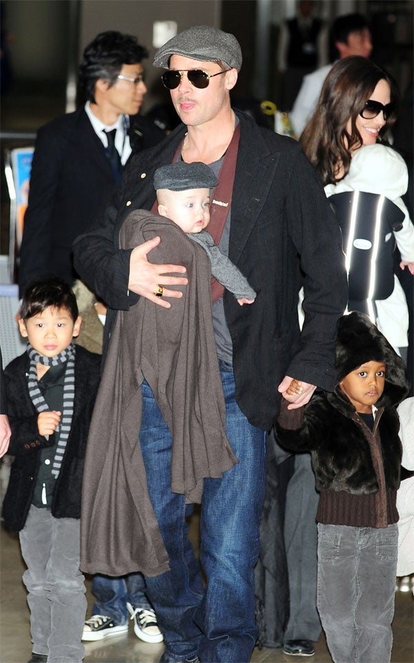 Far Out: Angelina & Brad Introduce New Twins To Far East