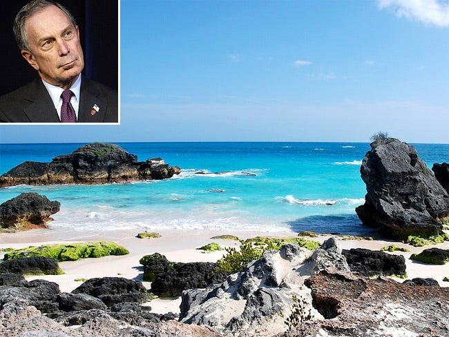 Michael Bloomberg Was Relaxing in Bermuda During the Snowpocalypse