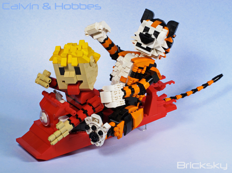 It's The Perfect Weather For LEGO Calvin And Hobbes Snowmen