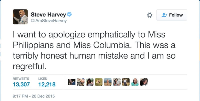 Steve Harvey Announces Wrong Winner Of Miss Universe, Chaos Ensues