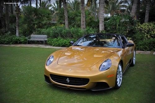 Ferrari P540 Superfast Aperta Shows Off Gold Skin In Palm Beach