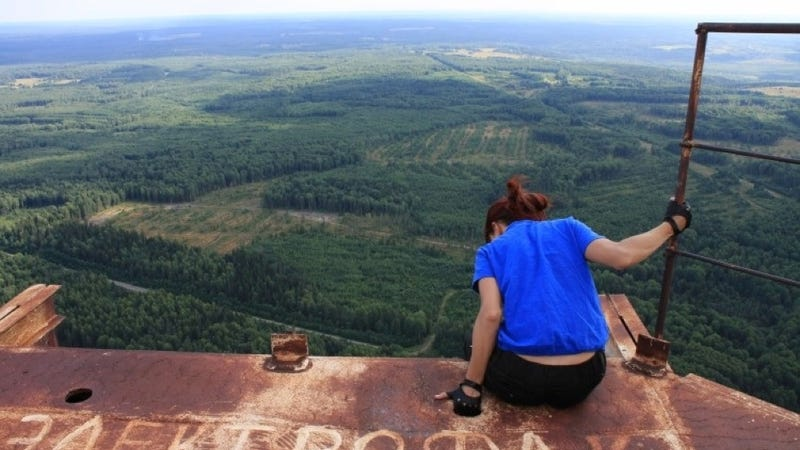 This Is The Terrifying View From Russia's Tallest Abandoned Structure