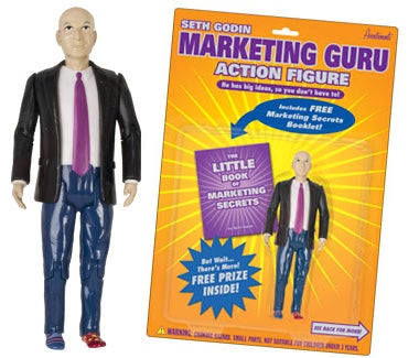 Seth Godin doll is a mind grenade for your ideavirus