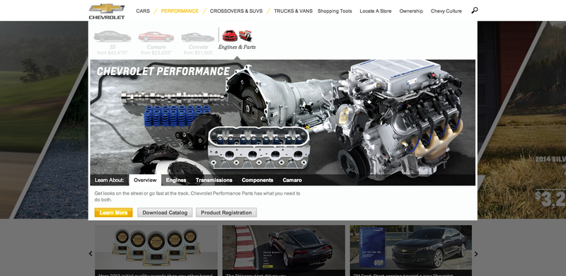 Chevy's Website Now Has A Performance Section