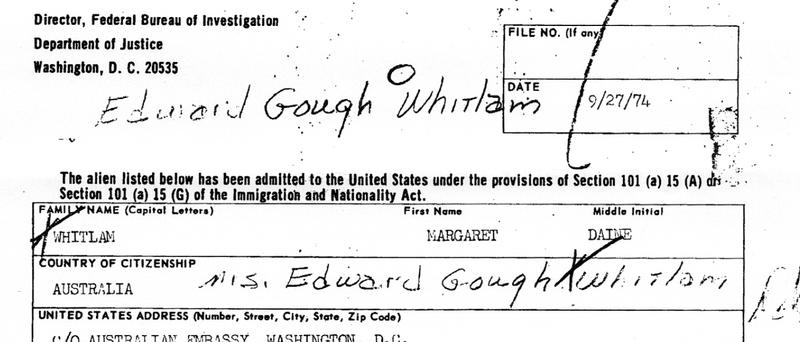 FBI Releases File on Australia's Pinko Prime Minister, Gough Whitlam