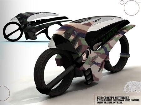Speed Racing Motorcycle Inspired By Aliens