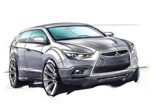 """Mitsubishi Releases Sketch Of """"Game Changer"""" Crossover"""