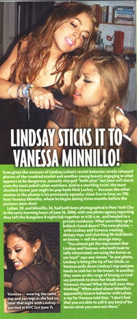 'Lucky' Magazine Cover Girl Vanessa Minnillo Is One Classy Knife-Wielder