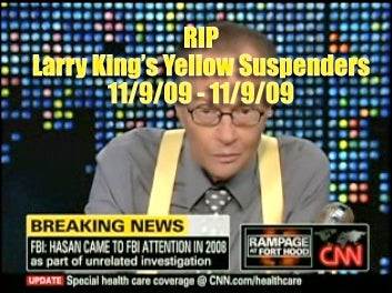 Larry King's Suspender Watch: Blue and Boring