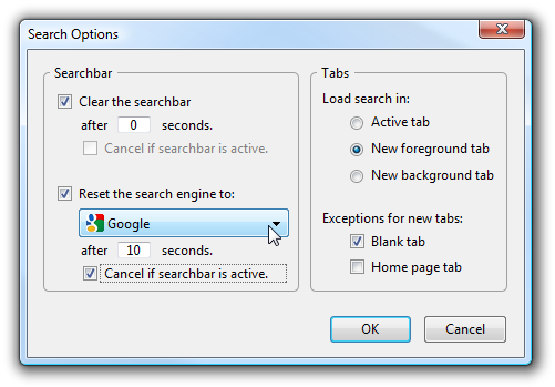 SearchLoad Options Fixes Firefox Search Annoyances