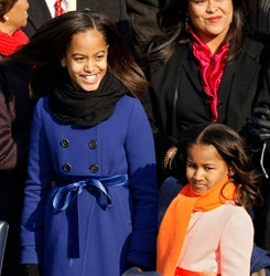 Sasha And Malia Find Out What's Behind Door Number One