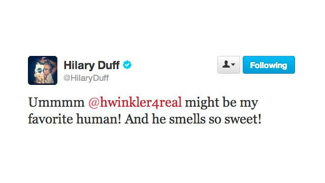 Hilary Duff Loves to Smell the Fonz