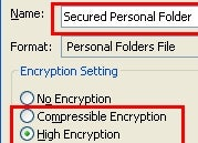 Create a Password-Protected Outlook Data File
