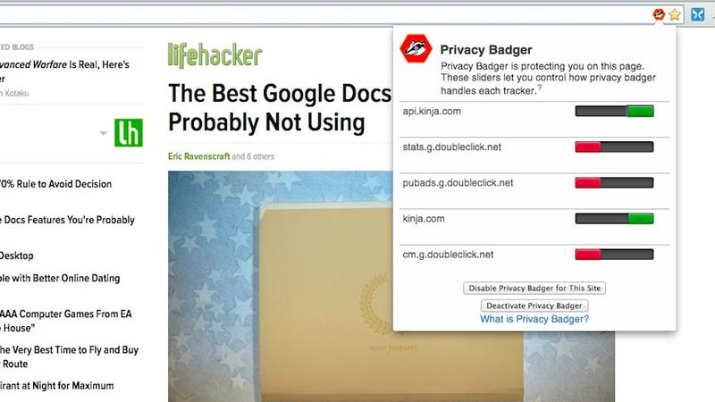 Privacy Badger Protects You from Online Tracking