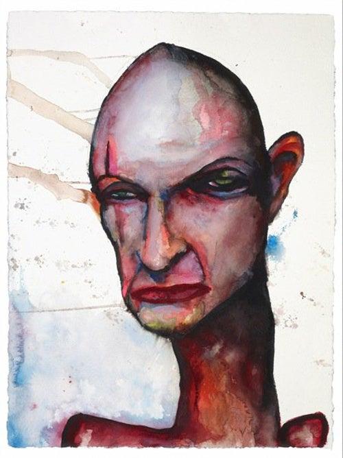 Marilyn Manson Paints Lost Fan Art