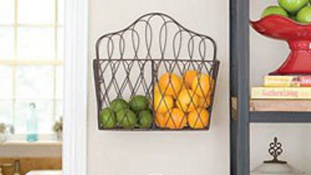 Store Fruits and Vegetables in Plain Sight with a Magazine Rack