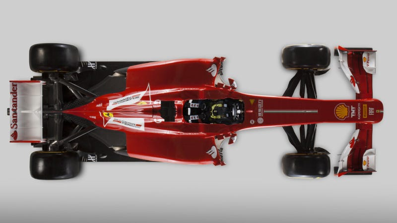 Ferrari F138: A Formula Car With A Prosthetic Nose