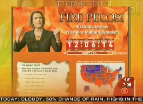 """GOP's """"Fire Pelosi"""" Webpage is Still Ridiculous Even After Michael Steele """"Taming"""""""