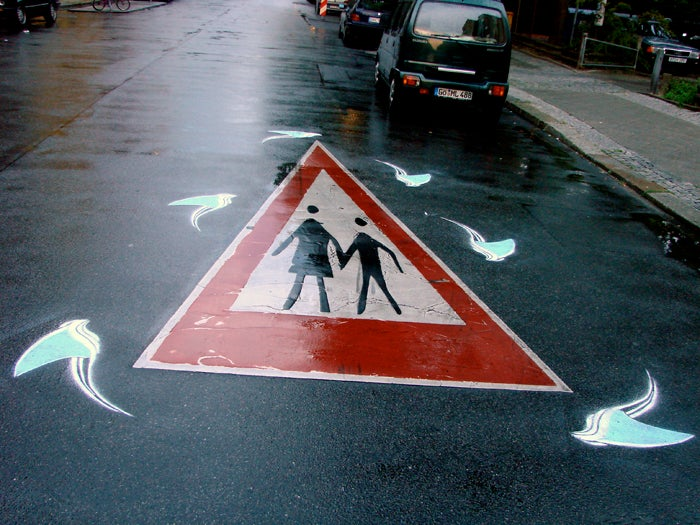 Roadsworth: Street Art Painted On Actual Streets