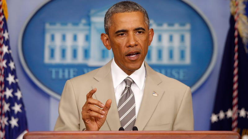 President Obama Shames America by Wearing Wack-Ass Tan Suit