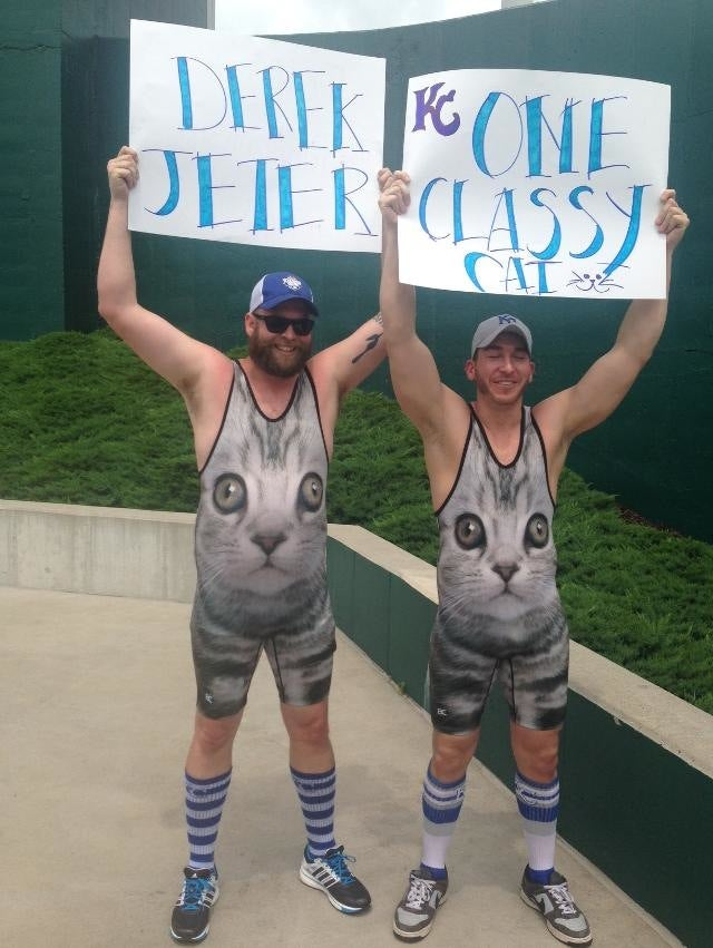 Royals Fans In Cat Singlets Give Derek Jeter The Tribute He Deserves