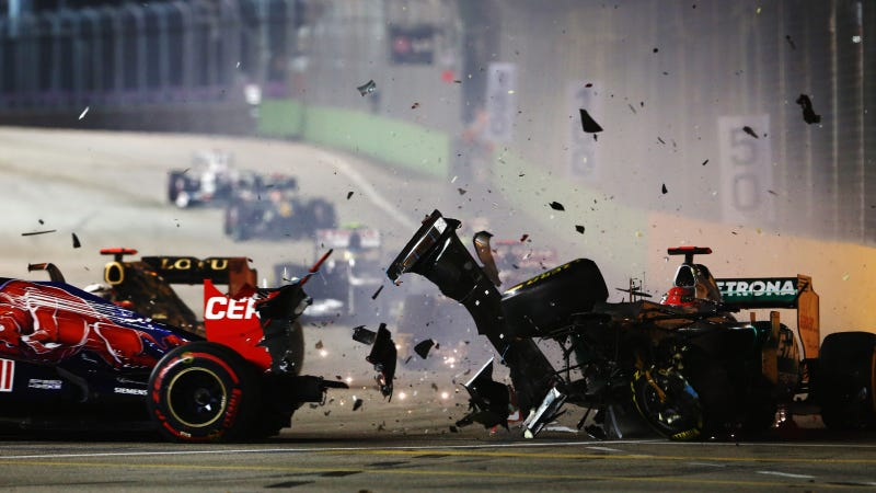 Watch Michael Schumacher Crash Out At The Singapore Grand Prix