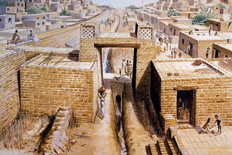 Artistic Recreation - Life at Harappa