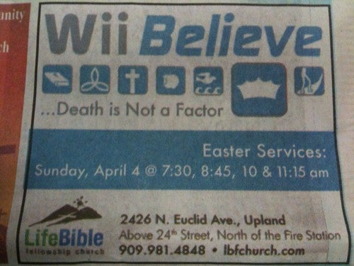 Easter Services: Wii Believe!