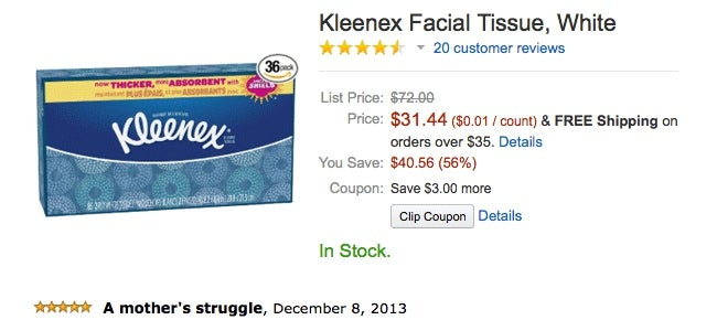 Now This Is How You Write an Amazon Review for Kleenex Facial Tissues