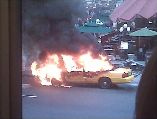 Times Square Taxi Inferno!