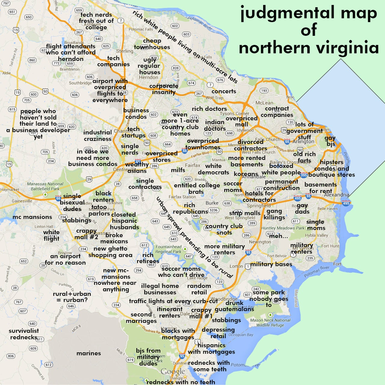 Judgmental Maps  Northern VA