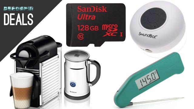 Deals: Tiny Nespresso Machine, Bluetooth Shower Speaker, Thermapen