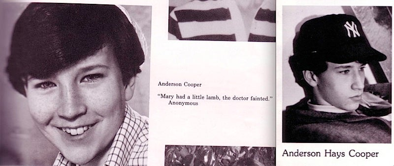 Anderson Cooper's High School Pictures Keep Him In Your Heart
