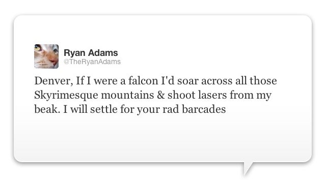 Ryan Adams: Singer, Songwriter, Skyrim Fan