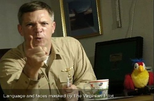 """Douchey Naval Captain Suspended Over """"Inappropriate"""" Videos"""