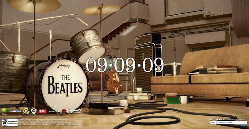 The Beatles: Rock Band Site Slowly Fills With Instruments