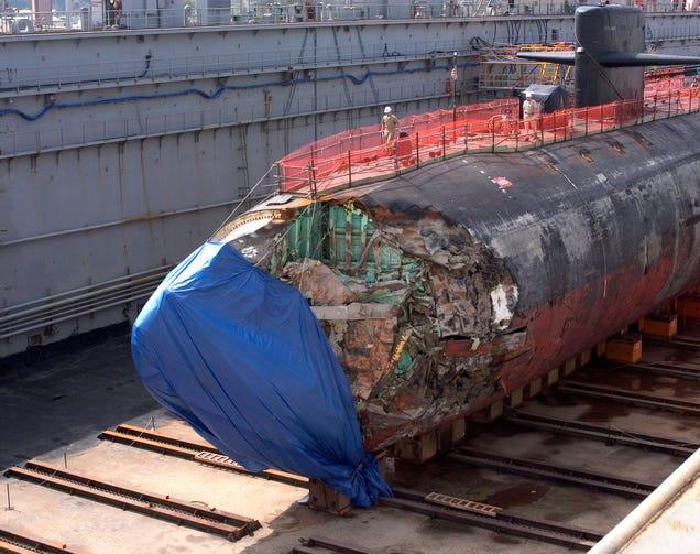 Estetimelapse muestra cómo se repara un submarino nuclear