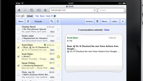 Gmail on iPad Gets a Better Batch Operations Interface
