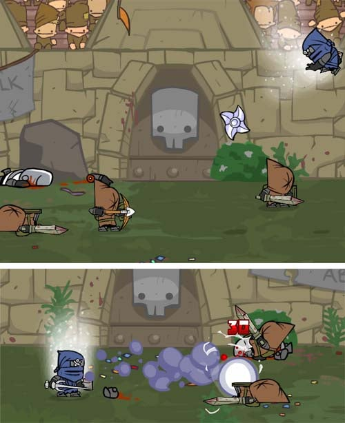 More Castle Crashers Characters: Ninja and Skeleton