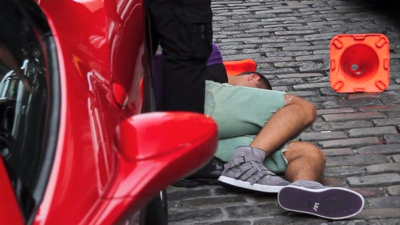 Ferrari Driver Stomped For Running Over Cop's Foot Sued By Cop For $10 Million