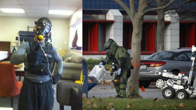 A Gas Mask and Armor-Wearing Jogger Scared a Bomb Squad into Blowing Up His Mail