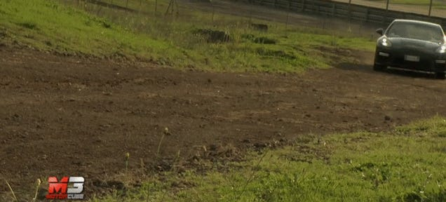 Watch A $200,000 Porsche Panamera Turbo Get Beat On A Dirt Track