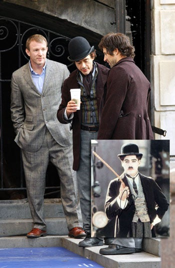 Your First Glimpse At Robert Downey Jr.'s Little Tramp Detective, Sherlock Holmes!
